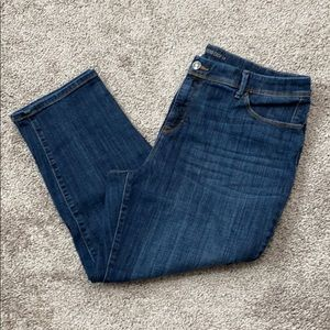 Chico's Size 3 cropped girlfriend jeans.